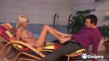 Meera jasmine bikini Jasmine rouge gives a footjob