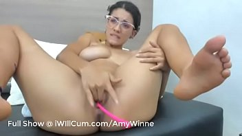 Gorgeous Teen I n Glasses Has Intense Triple D ntense Triple Dildo Creamy Orgasms