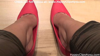 Sexy shoes catalog request Naomi red high heels dipping video