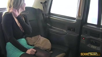A free ass fuck for lovely hot blonde customer in the cab