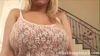 Big boobs blonde prefers huge dick