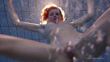 Nastya hot blonde naked in the pool thumbnail