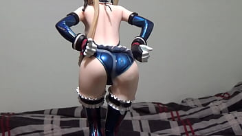 Sexy female figure skater - Cumshot on anime figure