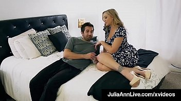 Mouth Fucking Mommy Julia Ann Sucks & Face Fucks Her Taboo Step Son!