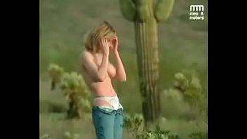 Amber Evans in the desert