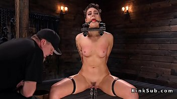 Nipple and clit clamps - Slave gets shaved and clamped