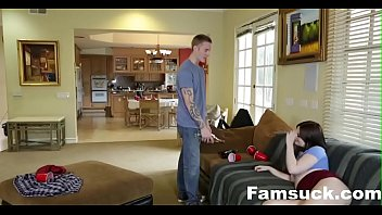 Cumming Home To New Step Sister |FamSuck.com
