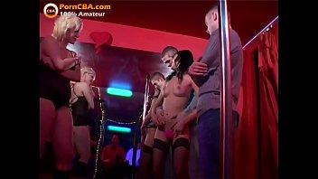 Cumshot club - Real amateur cumshot orgy in swinger club