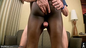 Just ebony tranny sex Glamorous black shedoll gets deep anal banged in interracial