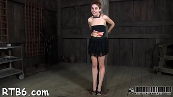 Gal gets her nipps licked before painful clamping