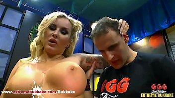 Horny Milf Jarushka likes to Fuck Strangers - Extreme Bukkake