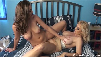 Charlee Chase licks Katie's sweet pussy!