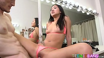 Dick brick art Oriental teenie teases before passionate pussy penetration
