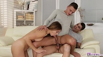 Don Diego anal fuck Peters tight asshole while Ani BlackFox suck his cock