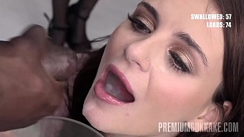 Premium Bukkake - Kate Rich swallows 156 huge mouthful cum loads