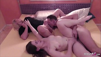 SISTER caught Teen Couple Fuck and Join in Threesome German