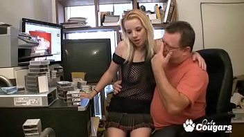 Young sex suck - Young amateur sucks off her fat nerdy webmaster for fun