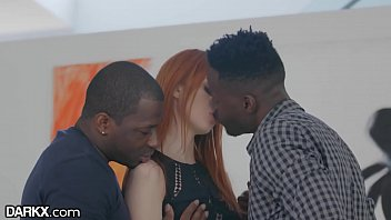 DarkX Greedy Redhead Wants 2 BBC's At the Same Time