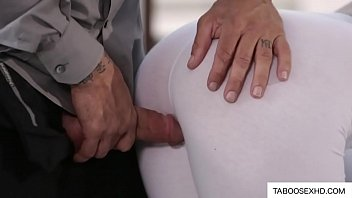 My Stepdaddy riped my tight pants and fuck me