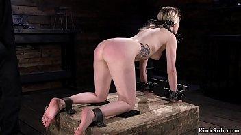 Full slave treatment in device bondage