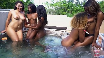 GIRLS GONE WILD - Evie Rei Plays With Her Wet Pussy After Hanging Out With The Girl