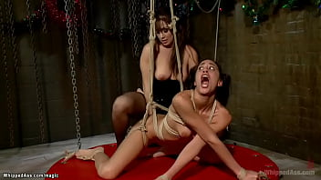 Bound Lesbian Spanked And Anal Banged