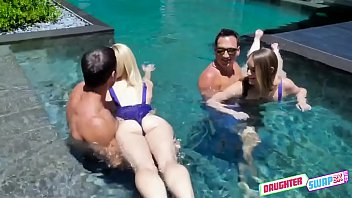 Dad pool porn Steamy daughter pool sex - kenzie madison, katie kush - full scene on http://daughterswap3x.com
