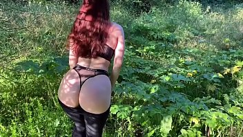 Wife loves outdoor sex and swallows cum after blowjob KleoModel