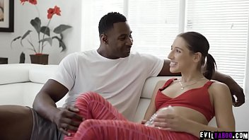 Teen stalker Abella Danger is obsessed with her hot ebony neighbor Jax Slayher. She invited him in her house and seduces him just to fuck her pussy.