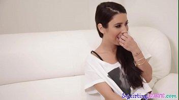 Lesbian teen seduces her squirting bff