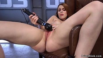 Solo ginger fucks machine and Sybian