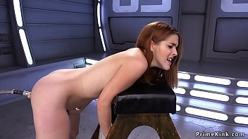 Solo ginger fucks machine and Sybian image