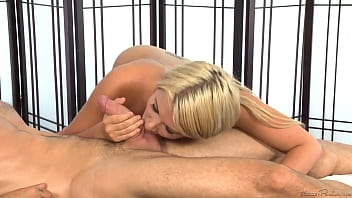 Cute Blonde Girlfriend Give her Boyfriend a Steamy Hot Massage with Happy Ending