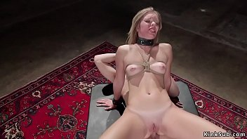 Tied up tits blonde gets anal bdsm sex
