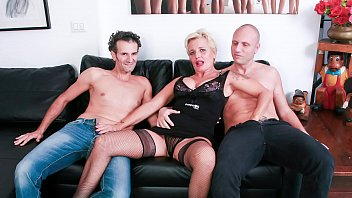 CASTING ALLA ITALIANA - #Shadow - Horny Cougar Gets DP In Hot FFM Threeway