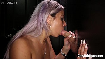 Gloryhole Secrets Jewish milf sucking dick
