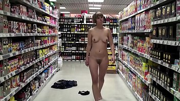 Tom thumb grocery store Naked in a supermarket
