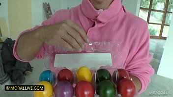 Fit Teen Gets Hammered by the Pink Bunny in a Wild Easter Tale!
