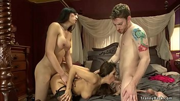 Key west transvestite Shemale fucks milf dean in threesome