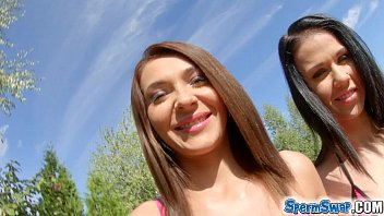 Sperm Swap Energetic fucking and cum swap for 2 hot brunettes