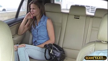 Astonishing lady gets pummeled from behind by the cab driver