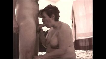 Glenda sucking on a hard cock