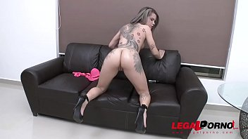 Young latina slut Alice Alcantara's loose asshole roughed up & DAP'ed by three huge cocks SZ2021