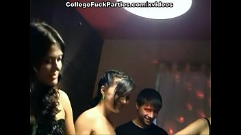 Student gang sex Orgy anal sex and squirt at the party