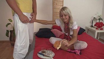 Teen boy uniform 18yo schoolgirl gets fucked by pizza delivery boy