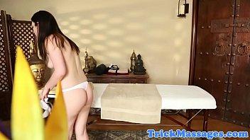 Amazing smalltits babe gets massaged