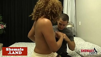 Gorgeous tranny babe gets anally screwed