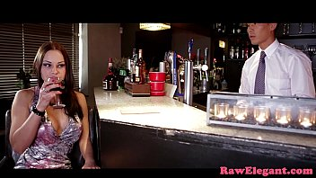 Bigtitted euro assfucked by the bartender