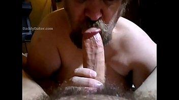 Big chubby gay cocks Daddybear sucking big hard cock