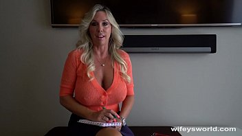 Busty Cougar Sucks And Jerks College Guy